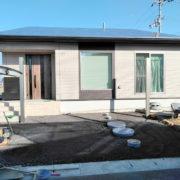 香川県高松市K様邸新築外構 カーポート柱建て