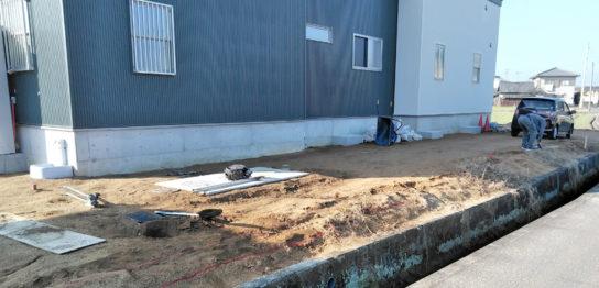香川県高松市T様邸新築外構 境界工事