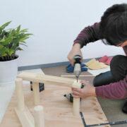 DIYでキッズテーブルを作っていきます。