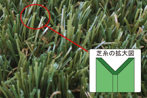 人工芝の拡大図